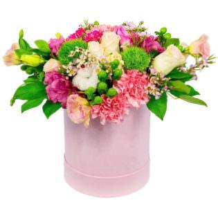 Цветы в коробке «Блеск»