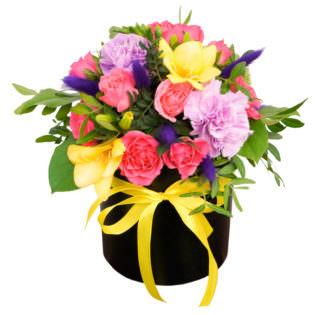 Цветы в коробке «Ласковая мечта»