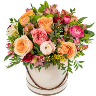 Цветы в коробке «Лесная нимфа»